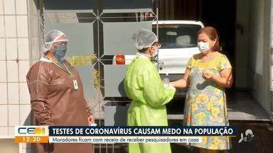 Testes de coronavírus causam medo na população - Saiba mais no g1.com.br/ce