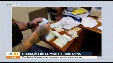 Polícia apreende lote de dinheiro na casa de investigado por fake news - Polícia apreende lote de dinheiro na casa de investigado por fake news