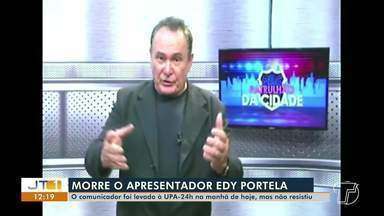 Apresentador Edy Portela morre em Santarém - Comunicador tinha jeito irreverente de informar à população. Ele sofreu uma parada cardíaca na manhã desta terça-feira (16).