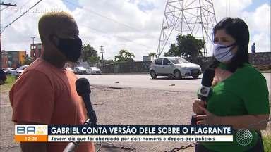 Caso Gabriel: Policiais Militares que abordaram o jovem vão ser ouvidos - Gabriel dos Santos é acusado de envolvimento em roubo de carro e extorsão. Depois de ele ser solto, as supostas vítimas procuraram a polícia.