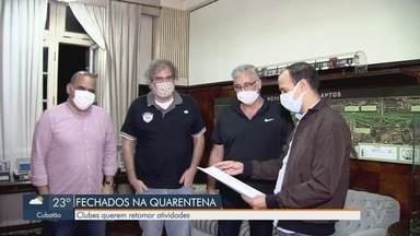 Clubes da região querem retomar atividades - Representantes de clubes enviaram proposta a prefeito de Santos.