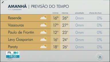 Quarta-feira segue com temperaturas amenas no Sul do Rio - Meteorologia descarta possibilidade de chuva em toda a região.