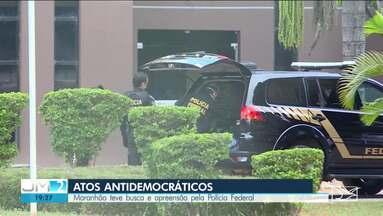 PF investiga organização e o financiamentos de atos antidemocráticos contra o STF - Mandado de busca e apreensão foi realizado em Imperatriz, em mais quatro estados e Distrito Federal.