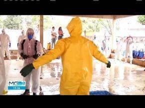 Corpo de Bombeiros faz capacitação de desinfecção em áreas de grande movimento - Capacitação foi realizada para servidores da região de governador Valadares.