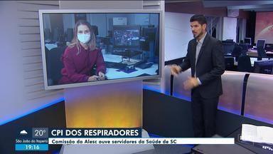 Alesc tem mais uma sessão da CPI dos Respiradores - Alesc tem mais uma sessão da CPI dos Respiradores