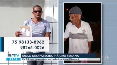 Família procura por idoso que está desaparecido há uma semana - Confira.