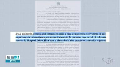 Governo do ES acusa grupo de deputados que invadiu hospitais de crime contra saúde pública - Confira na reportagem.