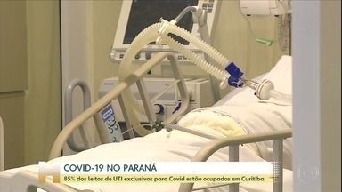 Ocupação de leitos de UTI sobe no Paraná - 85% dos leitos de UTI exclusivos para Covid estão ocupados em Curitiba