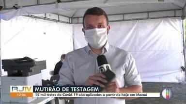 Macaé, RJ, inicia mutirão de testagem da Covid-19 - Serão feitos cerca de 15 mil testes que vão ajudar a mapear a situação do contágio pelo novo coronavírus.