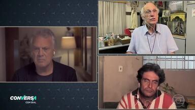 Pedro Bial conversa com o padre Julio Lancellotti - O morador de rua Adriano Casado também fala sobre sua vida durante a quarentena
