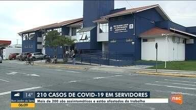 Joinville registra 210 casos de coronavírus em servidores da rede municipal de saúde - Joinville registra 210 casos de coronavírus em servidores da rede municipal de saúde