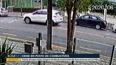 Polícia divulga novas imagens sobre crime em posto de combustíveis - Duas pessoas foram assassinadas.
