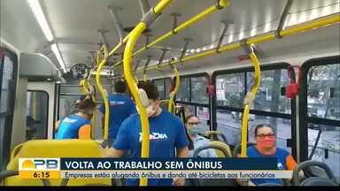 Volta ao trabalho sem ônibus; empresas estão alugando transportes para funcionários - Veja os direitos dos trabalhadores que não tem como ir ao trabalho.