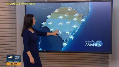 Sexta-feira (19) segue com chuva no RS; há risco de temporais - Temperaturas máximas ficam amenas.