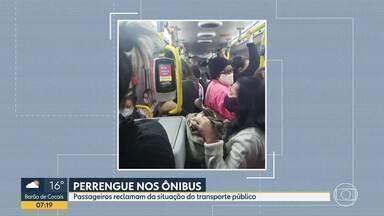 Telespectadores denunciam ônibus cheios - Aglomerações são risco em tempos de pandemia.