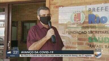 Rio Claro é a cidade da região com maior taxa de letalidade da Covid-19 - 70 pessoas estão internadas, sendo 14 na Unidade de Terapia Intensiva (UTI).