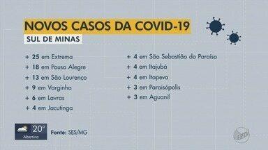 Sul de Minas tem 126 novos casos confirmados de Covid-19 - Veja balanço atualizado da SES-MG