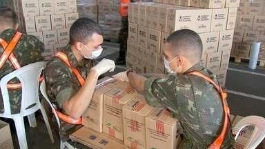 Militares de Jundiaí montam cestas para famílias em vulnerabilidade - Militares do quartel de Jundiaí (SP) estão montando cestas que serão entregues para famílias em vulnerabilidade da região e também da Grande São Paulo.