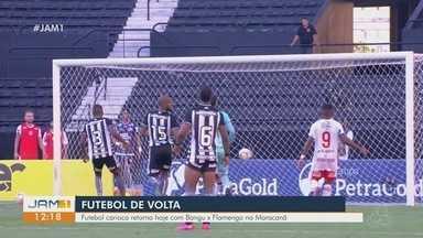 Volta do futebol gera discussões - Futebol carioca retorna hoje com Bangu x Flamengo no Maracanã.