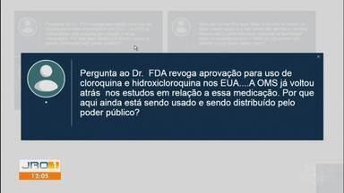 Plantão do dr Rodrigo Almeida no JRO1 - Especialista tira dúvidas do público quem chegam pelo 69 99209-3750.