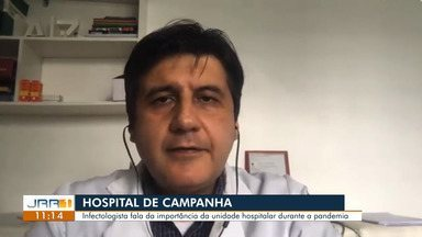 Pico de contaminação por covid-19 pode ser na segunda semana do mês de agosto, diz estudo - O infectologista Joel Gonzaga também fala da importância do hospital de campanha durante a pandemia.