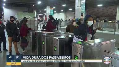 Vida de usuários do transporte coletivo fica mais difícil com problemas em terminais de BH - Infraestrutura deficitária prejudica locomoção de passageiros que precisam pegar ônibus em estações do Move.
