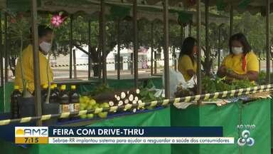 Feira agroecológica drive-thru é implantada pelo Sebrae em Boa Vista - O Sebrae-RR implantou sistema para ajudar a resguardar a saúde dos consumidores.