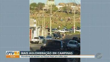 Jovens de Hortolândia se reúnem e não respeitam distanciamento social - O ocorrido foi na Avenida Antônio Costa Santos e havia várias pessoas com som alto.
