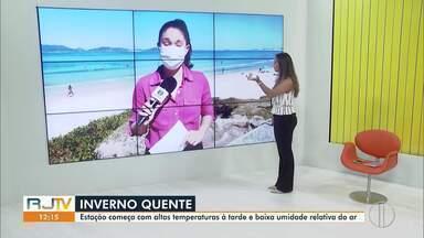 Confira a previsão do tempo no interior do Rio nesta segunda-feira (22). - Primeiro final de semana do inverno não registra altas temperaturas.