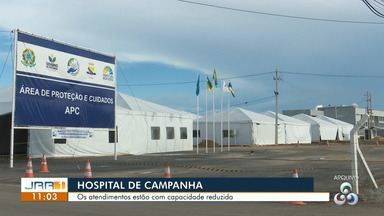Hospital de campanha de RR é inaugurado com capacidade de atendimentos reduzida - Os atendimentos estão com capacidade reduzida.