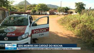 Seis pessoas são mortas na cidade de Catolé do Rocha, no Sertão da Paraíba - Polícia acredita que assassinatos estão interligados e investiga os motivos.