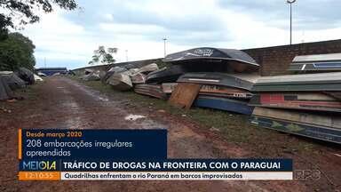 Quadrilhas usam barcos em péssimas condições para entrar com drogas no Brasil - A droga é trazida do Paraguai.