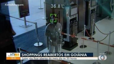 Shoppings voltam a funcionar em Goiânia em horário especial - Do meio dia às 20h.