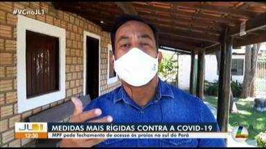 MPF pede o fechamento do acesso às praias no sul do Pará - MPF pede o fechamento do acesso às praias no sul do Pará