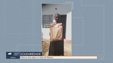 Fábrica doa pães para famílias no Vale do Ribeira - Ação de solidariedade tem como objetivo ajudar famílias no período da pandemia.