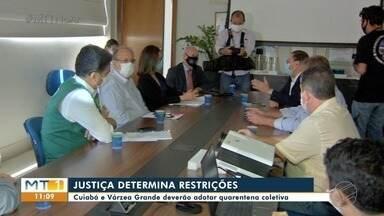 Cuiabá e Várzea Grande deverão adotar quarentena coletiva - Cuiabá e Várzea Grande deverão adotar quarentena coletiva.