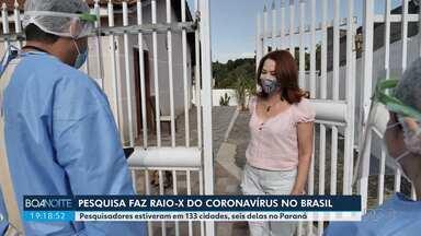 Pesquisa faz raio-x do coronavírus no Brasil - Quase 100 mil brasileiros, entre eles muitos paranaenses, foram ouvidos.