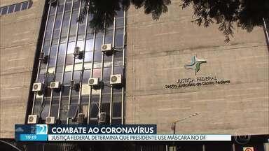 AGU recorre da decisão que obriga o presidente Bolsonaro a usar máscara no DF - O GDF, que determinou o uso obrigatório das máscaras de proteção, registrou mais 26 mortes pela COVID-19, nessa terça-feira.