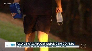 Prefeitura passa a fiscalizar uso de máscara em Goiânia - Quem desrespeitar a obrigatoriedade será multado em R$ 627,38.