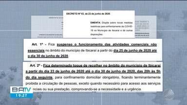 Prefeitura de Ibicaraí determina fechamento de comércio não essencial e toque de recolher - Os dois decretos foram publicados nesta terça-feira (23).