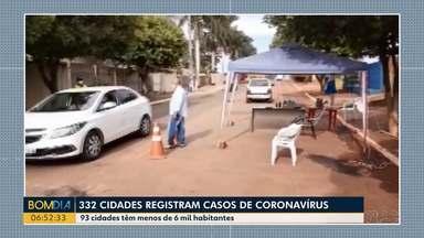 332 cidades do Paraná registraram casos de coronavírus - 93 cidades têm menos de 6 mil habitantes.