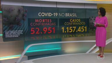 Brasil tem 52.951 mortes por coronavírus confirmadas, mostra consórcio de imprensa - Levantamento aponta que país tem 52.951 mortes, mais que o dobro de Índia, China, Paquistão e Indonésia juntos; e 1.157.451 casos confirmados.