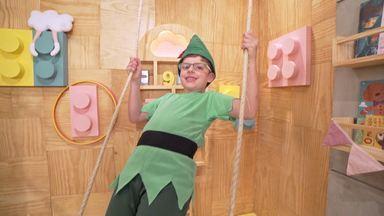 Peter Pan - Neste episódio, a história de Peter Pan, o menino que não queria crescer, se transforma no tema que Guilherme escolheu para comemorar seus sete anos de idade.