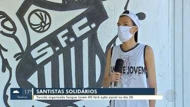 Torcida Sangue Jovem MS do Santos faz ação social em MS no dia 28 - Torcida Sangue Jovem MS do Santos faz ação social em MS no dia 28