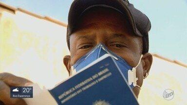Moradores do Sul de MG enfrentam desemprego e tentam aprovação no auxílio emergencial - Moradores do Sul de MG enfrentam desemprego e tentam aprovação no auxílio emergencial