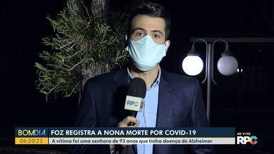 Foz registra nona morte por Covid-19 - Todos os 20 leitos de UTI para Covid-19 estão ocupados no Hospital Municipal de Foz.