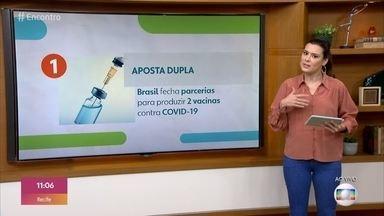 Brasil fecha acordos para produzir vacinas de Oxford e da China - Nos Estados Unidos, 84 pessoas testam positivo após irem a bar no estado do Michigan