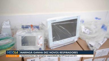 Maringá ganha dez novos respiradores - Equipamentos vão ampliar capacidade da UTI local em 22%.