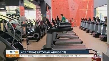 Em Manaus, academias retomam atividades - Normas de segurança são adotadas para evitar a propagação da Covid-19.