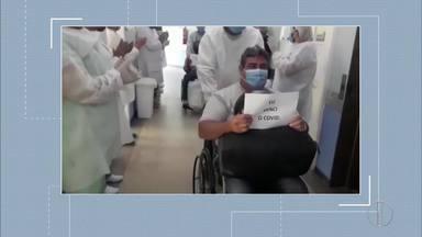 Pacientes recebem alta após cura da Covid-19 - Dois pacientes receberam alta do hospital do Jardim Esperança, em Cabo Frio